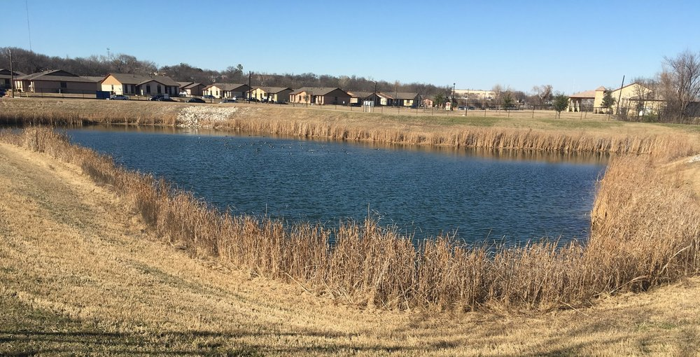Stormwater detention pond in Fort Worth. (Photo: Mikel Wilkins)