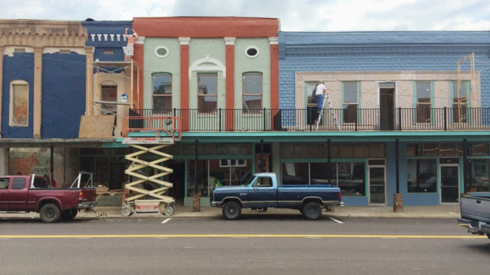 Main Street transformation in Water Valley, MS.