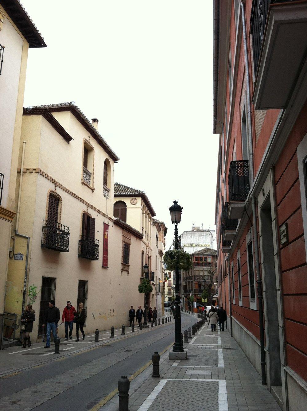 A pretty normal street in Granada, Spain. (Photo: Jordan Clark)