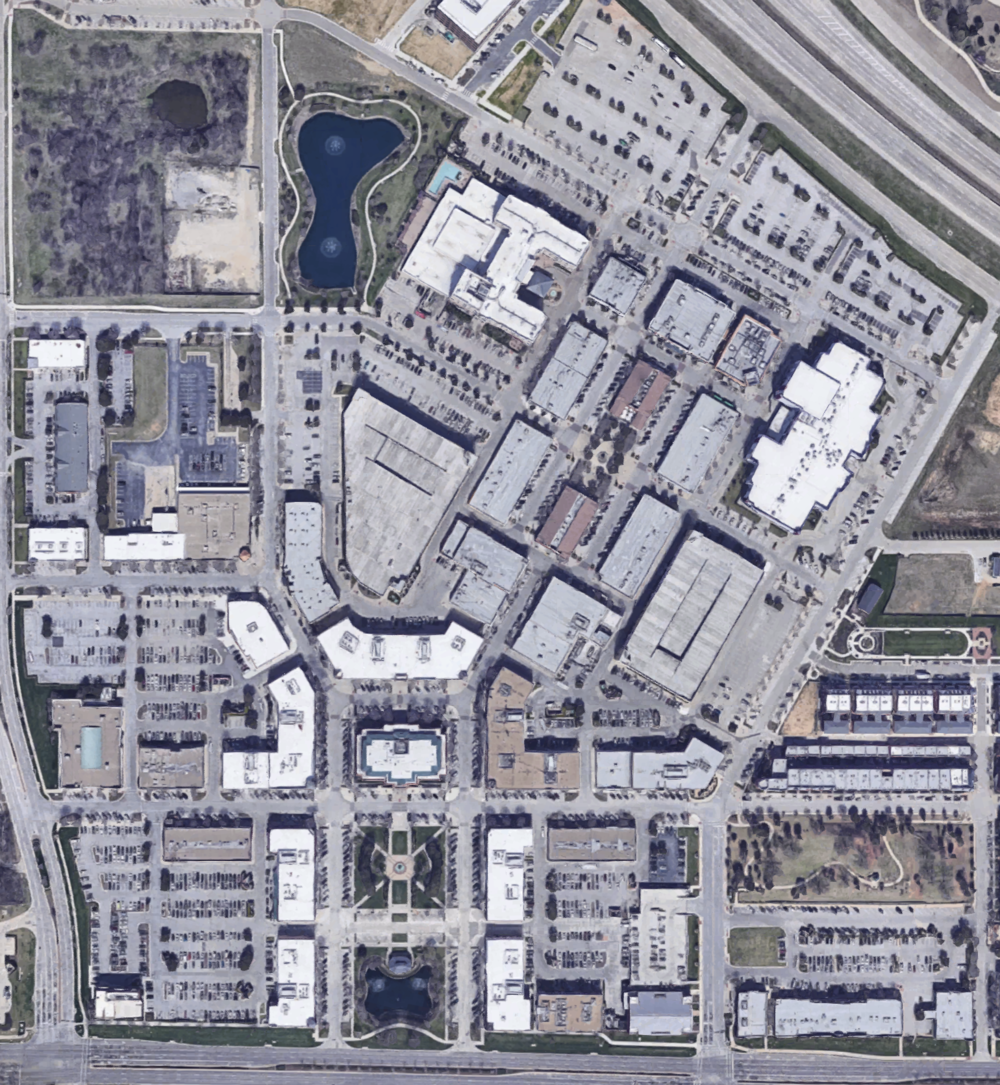 """Southlake """"mixed-use"""" development from above"""