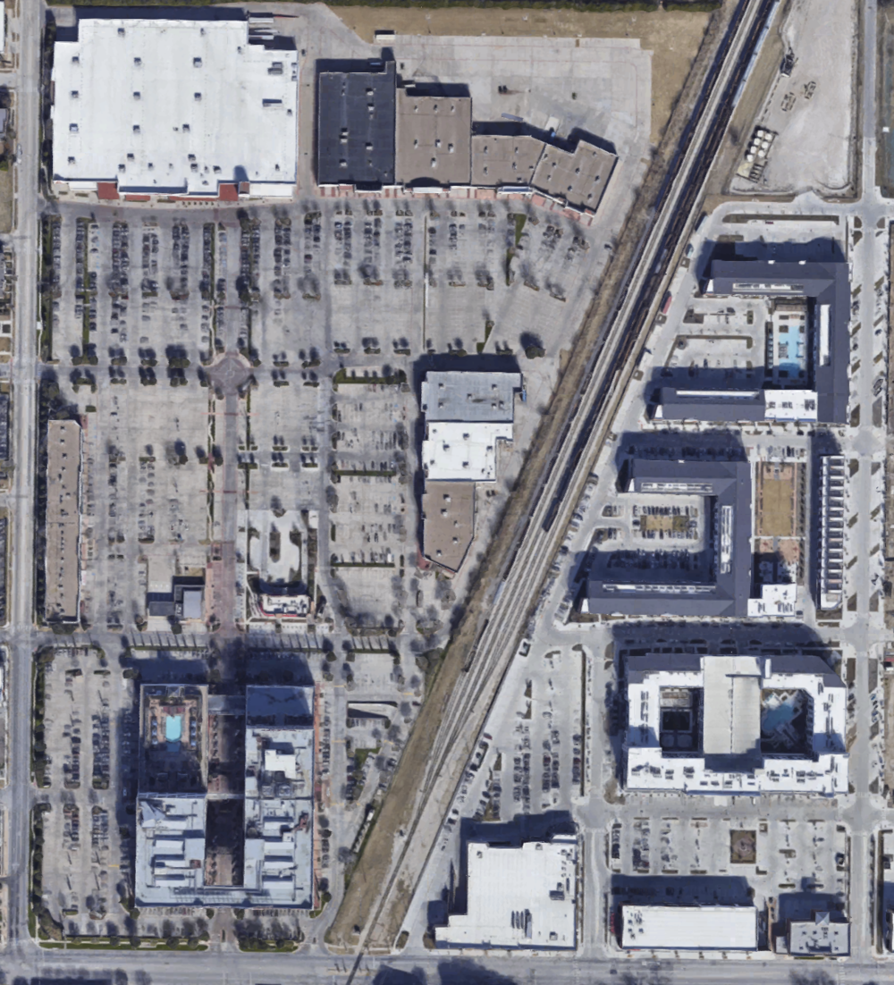 """Fort Worth """"mixed-use"""" development from above"""