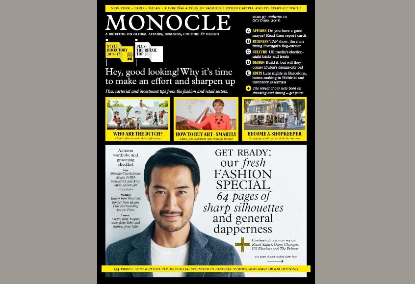 Monocle N° 97, Volume 10 October 2016