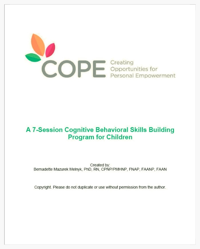COPE 7-session Child Manual/Workbook