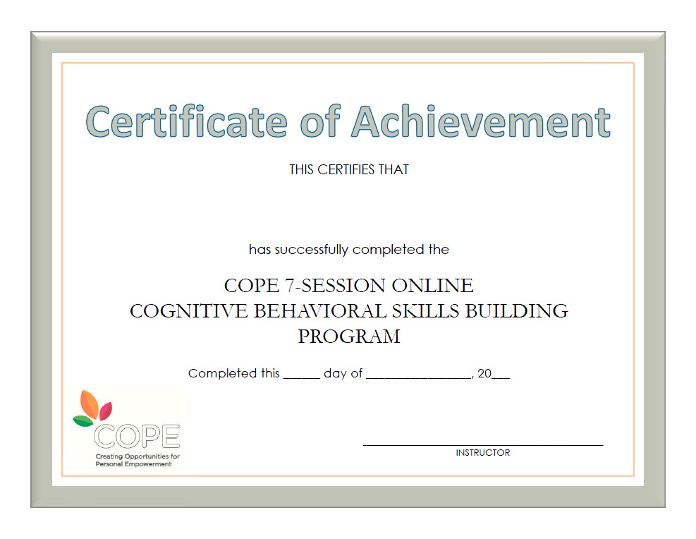 COPE Instructor Resources - CBT-based Programs — COPE2Thrive LLC ...