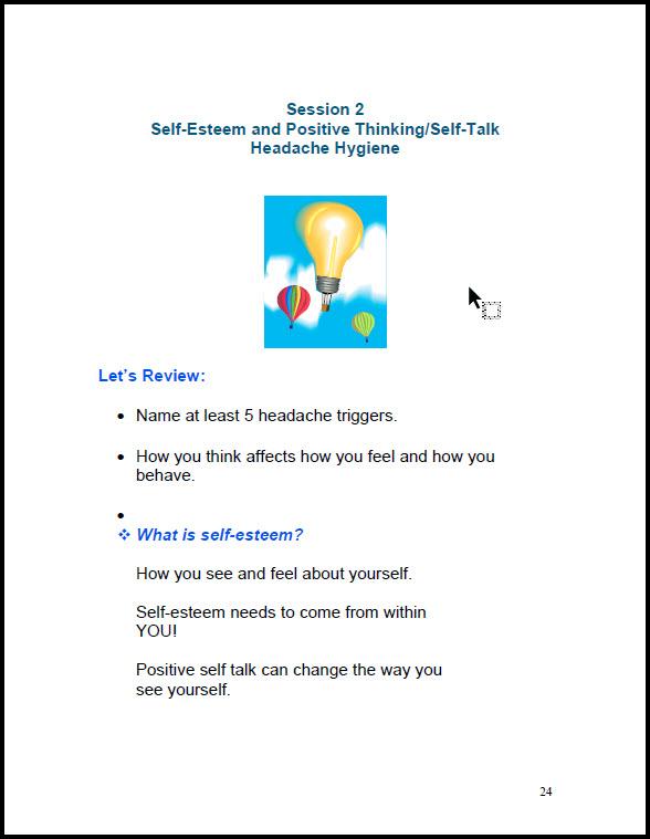 7-Session Teen Headache  Education (HEP) Student Manual