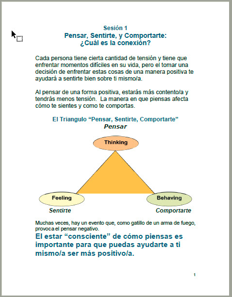 7-Session Young Adult                 Student Manual - Spanish