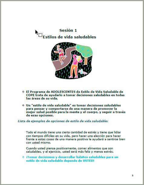 15-Session TEEN                Student Manual - Spanish
