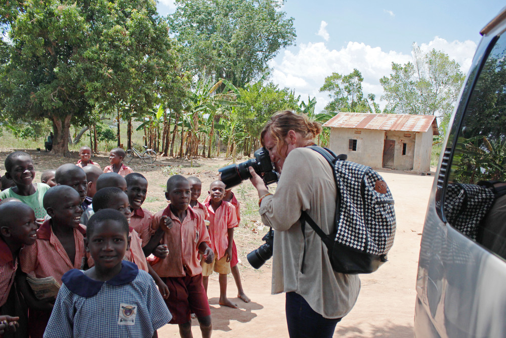 Visiting a school in Uganda while on assignment with The Thirst Project. Photo by Joey Beni