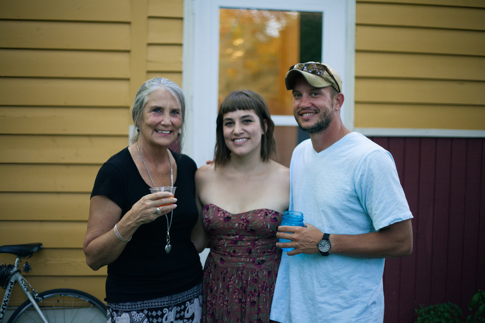 Erin, her lovely mamma, and brother that has a compass watch