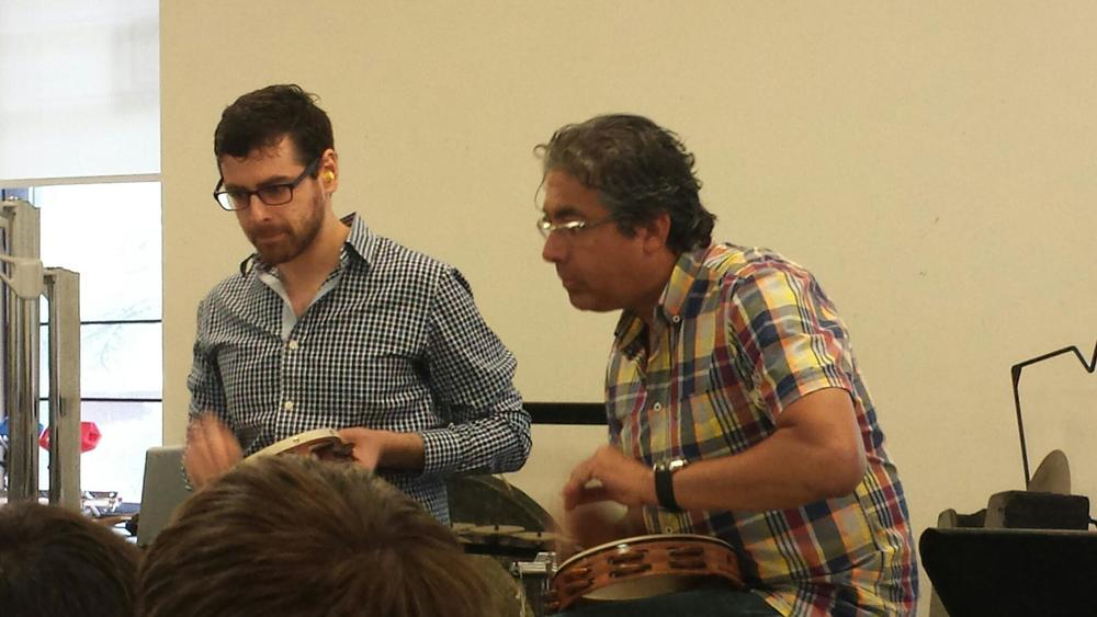 a duet from keith's book,  complementary percussion