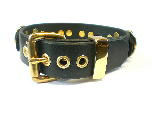 solid brass keeper - black bridle
