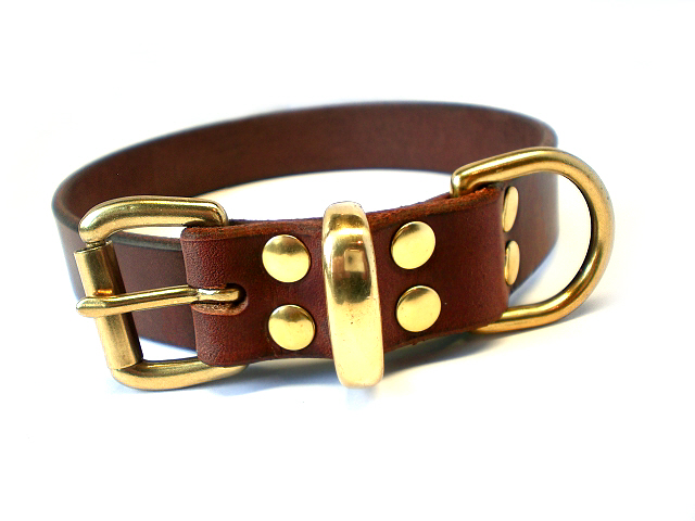brown bridle - brass keeper