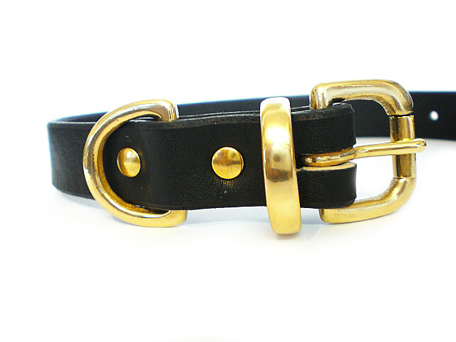 black bridle - solid brass keeper