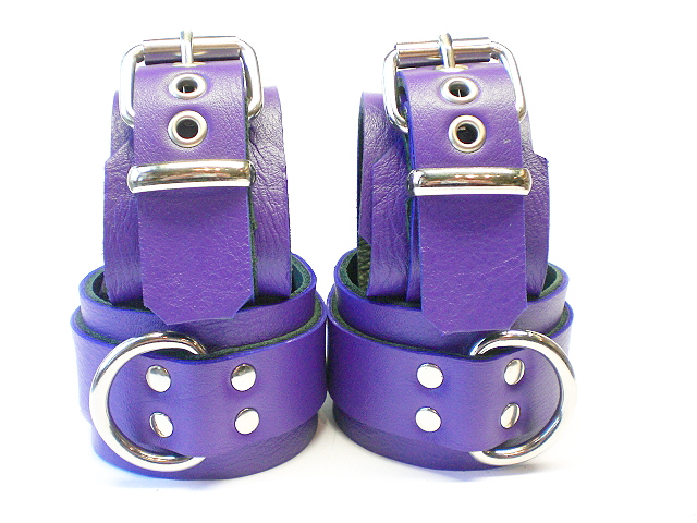 electric purple (showing close-up of restraints)