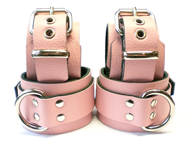 baby pink (showing close-up of restraints)