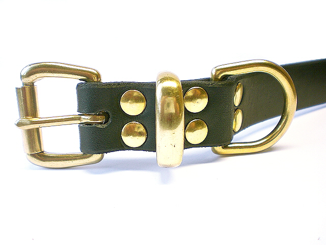 black bridle - brass keeper
