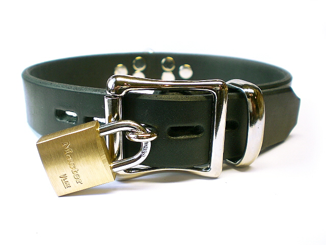 lockable w/padlock - black latigo