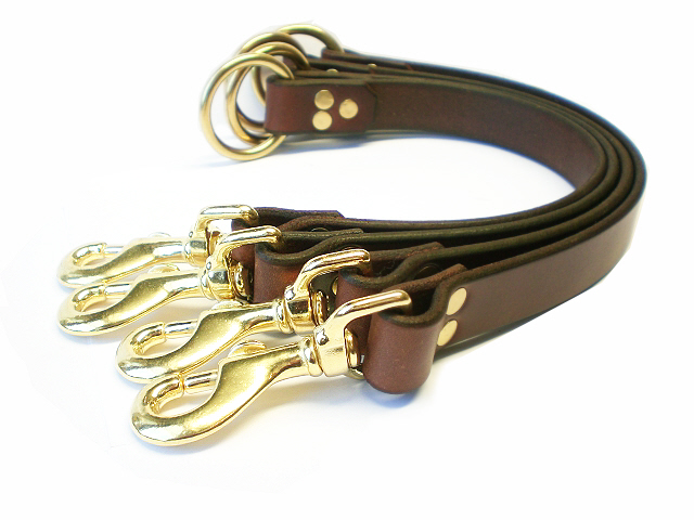 brown bridle -solid brass