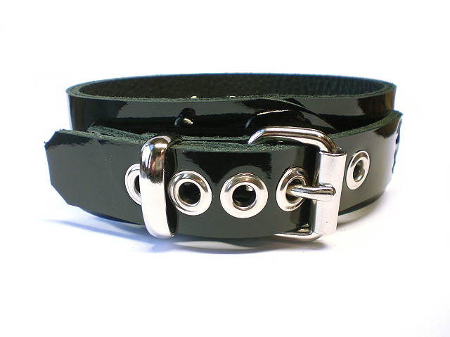 black patent - standard buckle