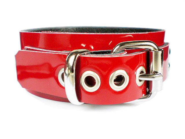 red patent - standard buckle