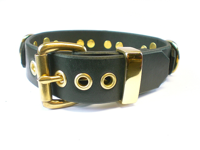 black bridle leather - buckle view