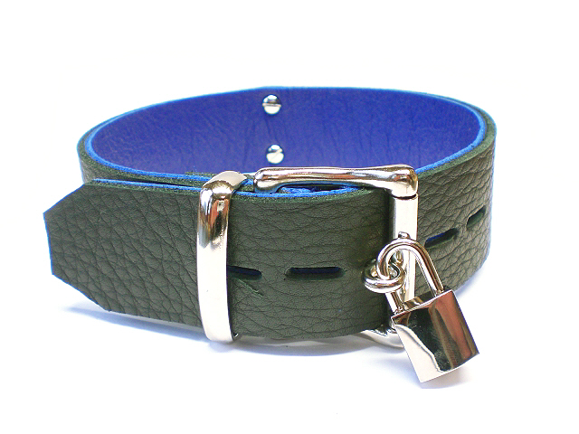 soft black w/blue inlay - large lockable buckle