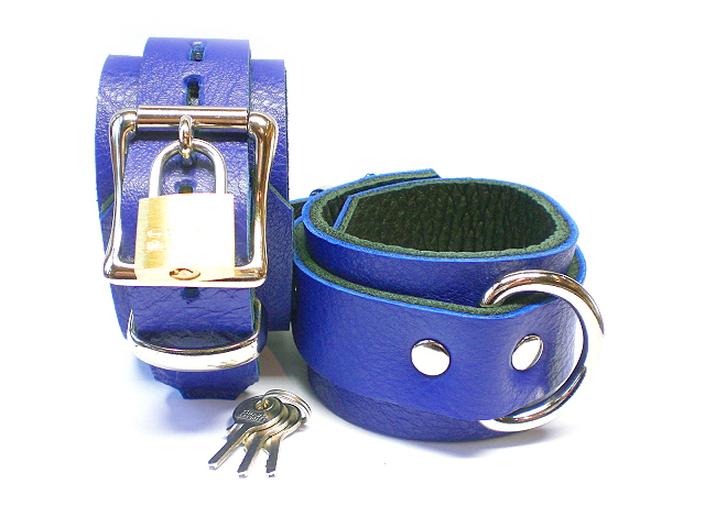 lockable buckles w/padlocks - royal blue