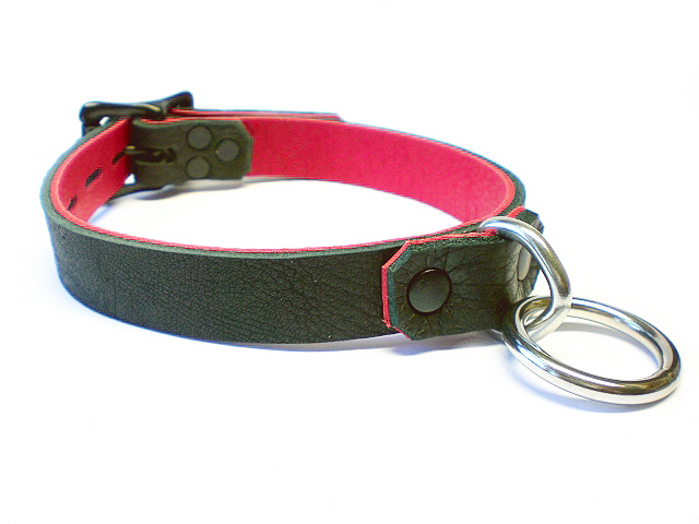 soft black w/red inlay - blk rivets