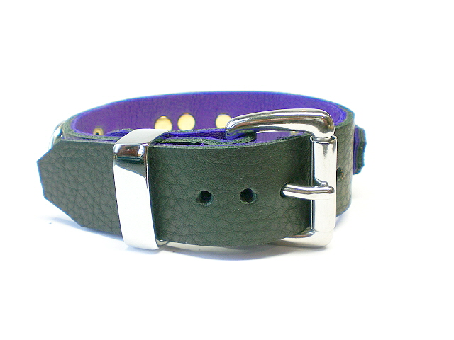 standard buckle w/chrome keeper (black w/purple inlay)