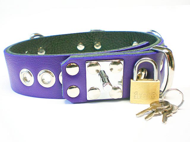 padlock stud w/padlock - electric purple