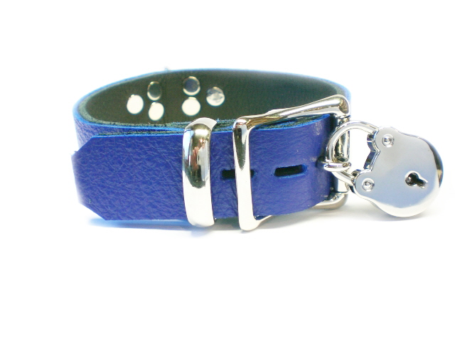 lockable buckle w/padlock - royal blue