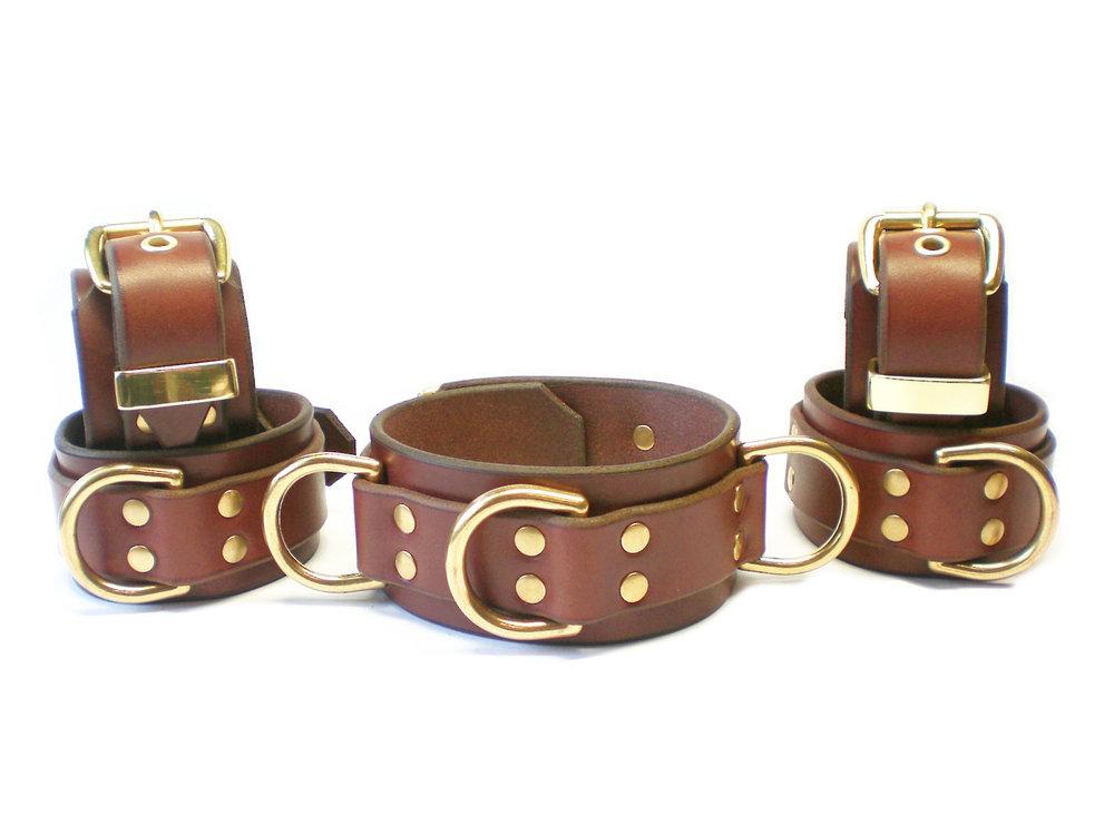 brown bridle set