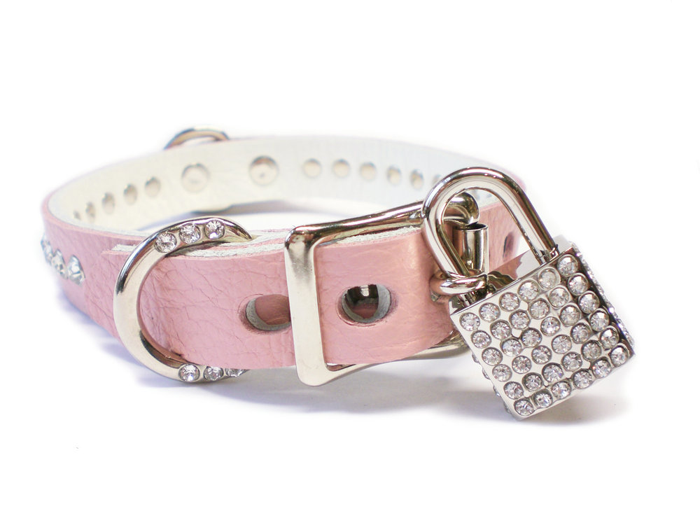 lockable buckle - Rhinestone padlock