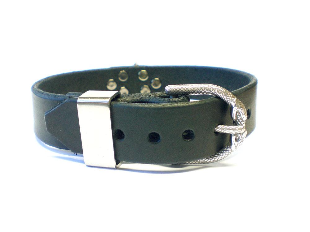 snake buckle - stainless steel keeper