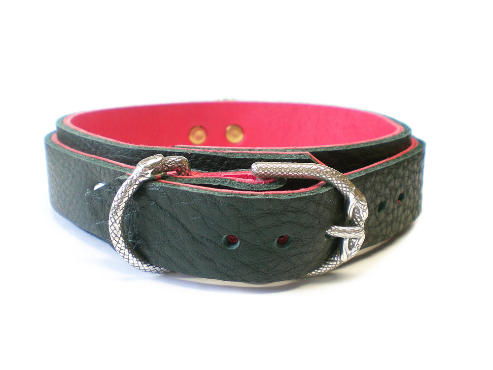 snake buckle & dee ring (different collar)