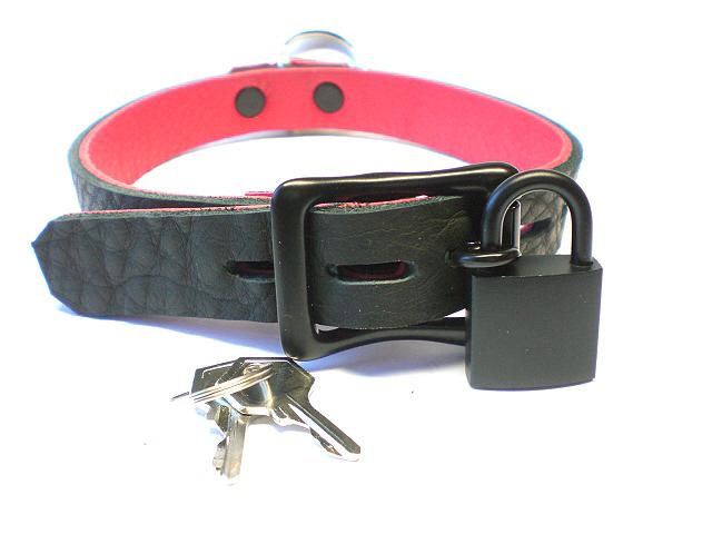 black lockable w/padlock