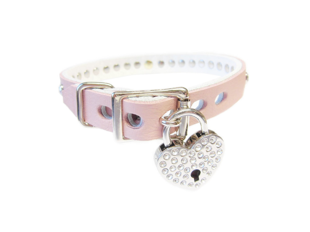 lockable buckle - heart rhinestone lock