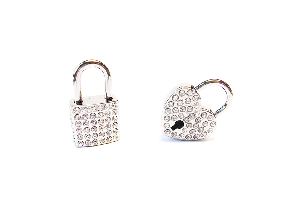 rhinestone padlocks