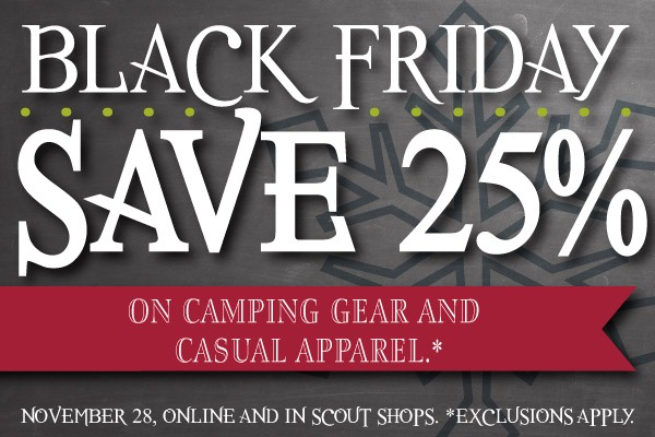 Palmetto Scout Shop will be open Friday Nov. 28th. We will have awesome Black Friday deals going on!!!! Not only will you get awesome deals, but as always.. NO SALES TAX!!!