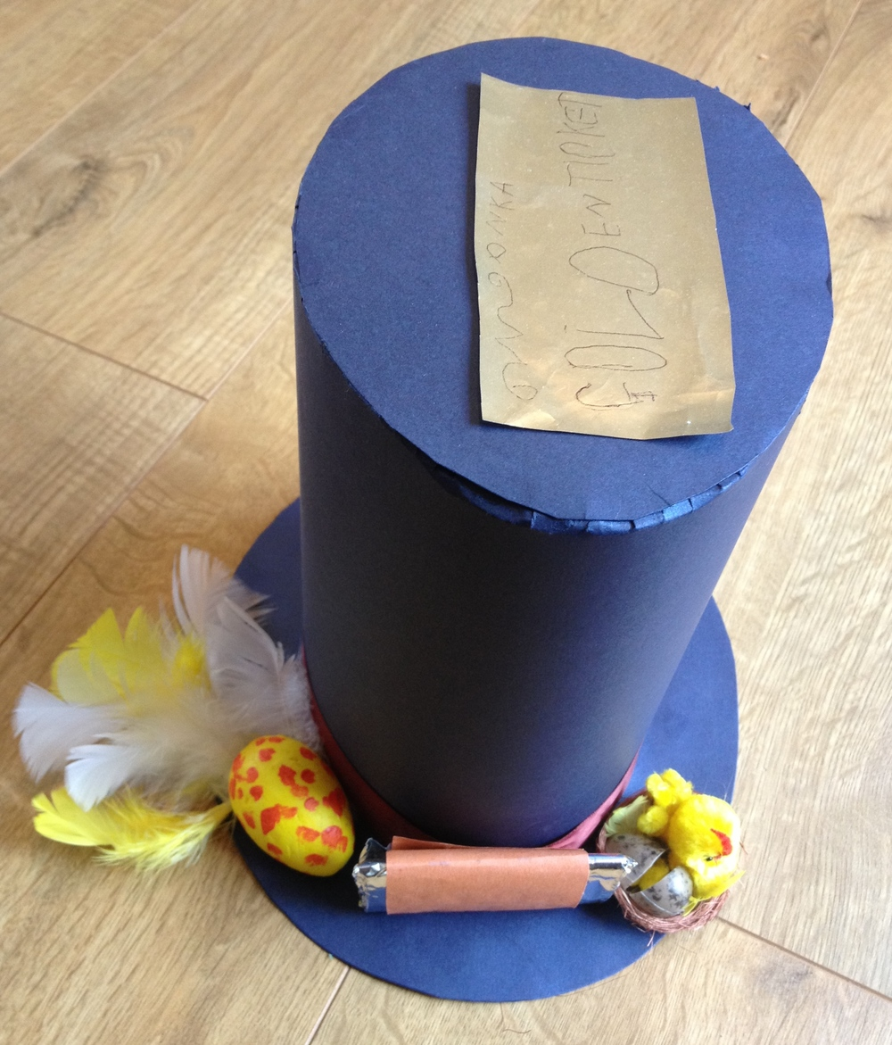 Ready for the School Easter Bonnet Parade - now where did we leave that golden ticket....?