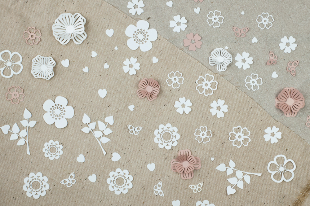 Pretty table confetti,  choose your favourite flower of leaf
