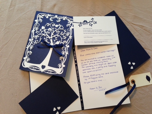 Jen's completed invitations
