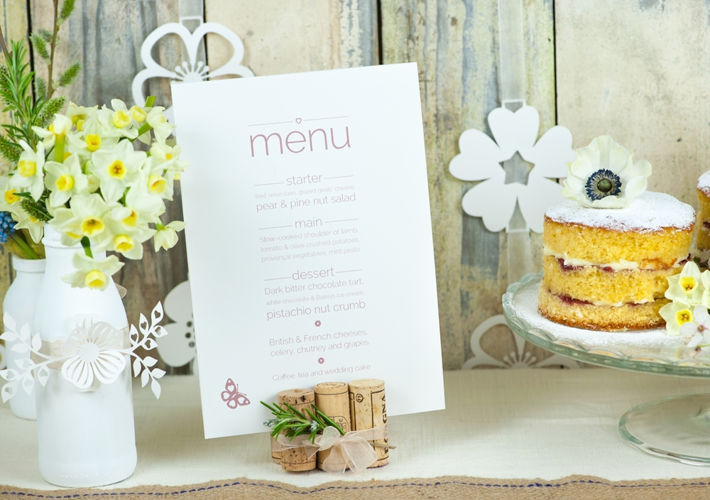 Stacked design menu card