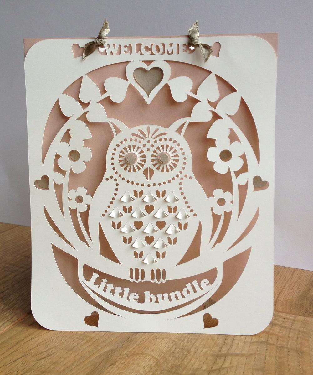 Baby Owl card