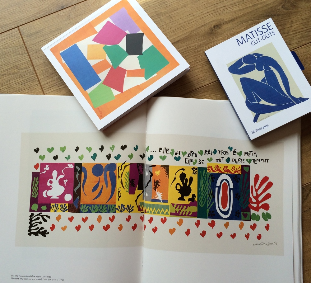 Love the cut words on this Matisse piece