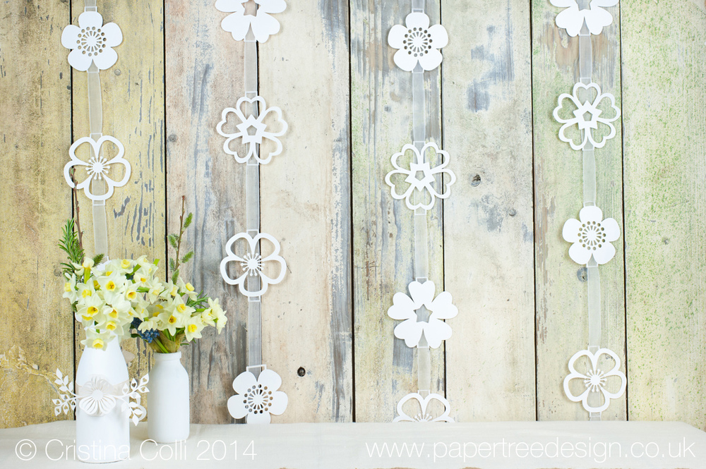 Woodland wedding paper garlands
