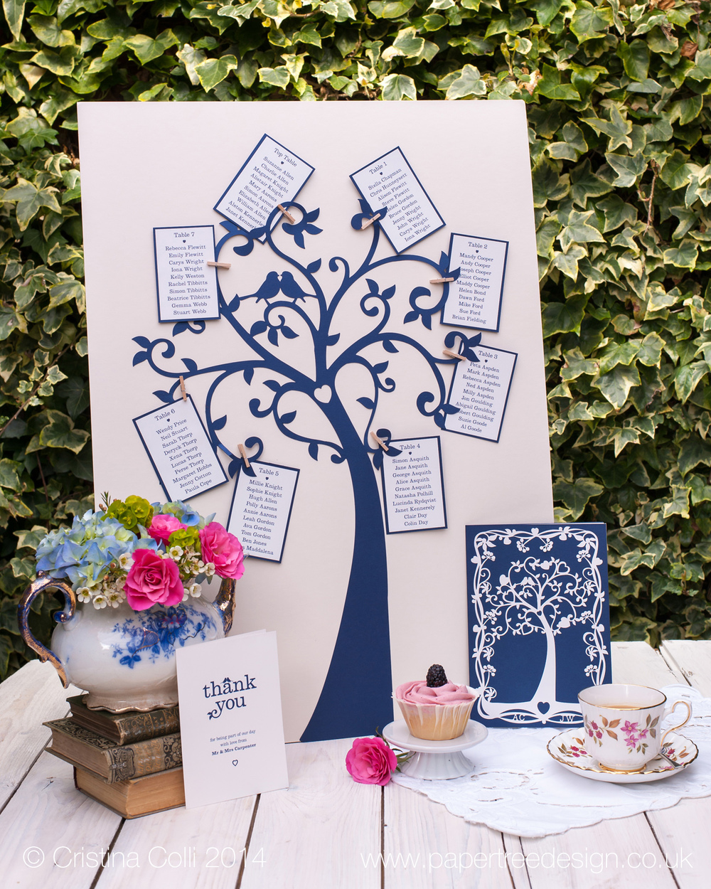 Tree of hearts table plan