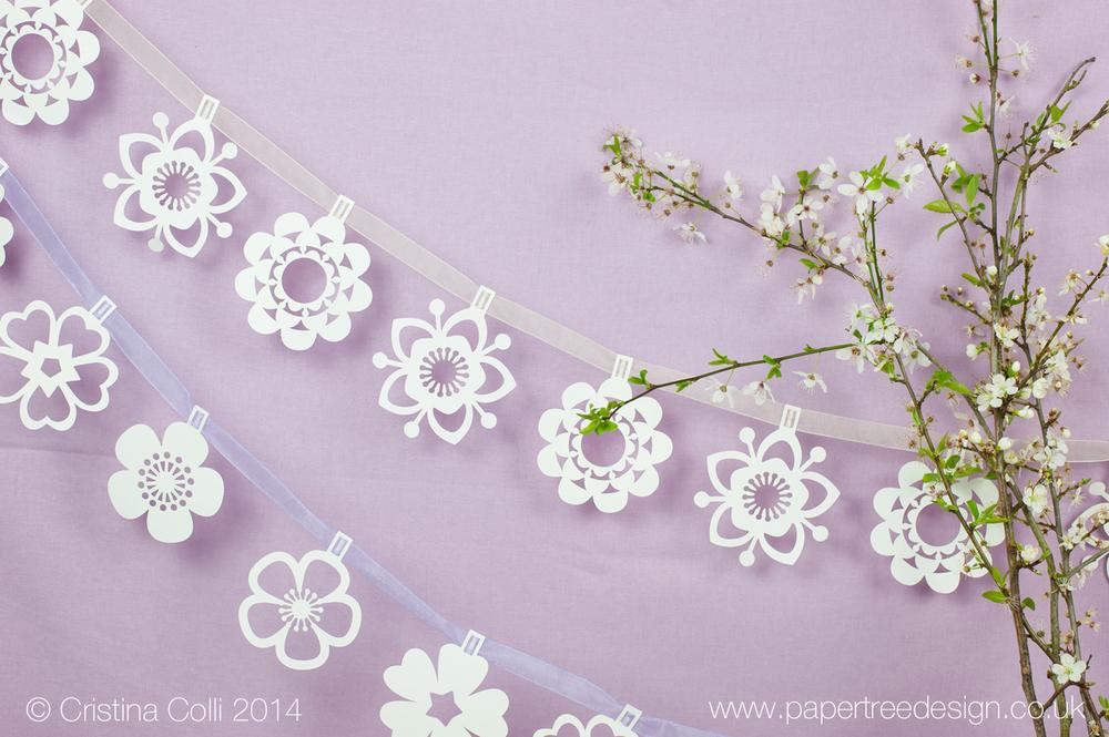 Wild flower paper bunting
