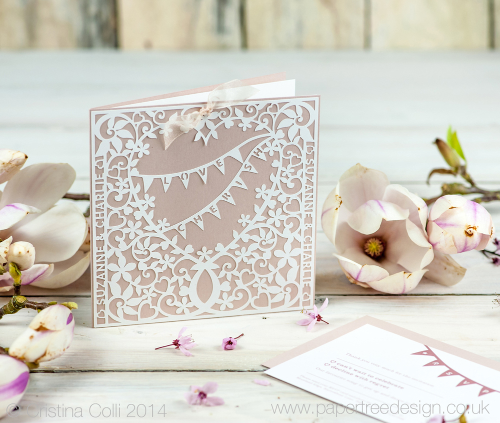 Filligree Heart Wedding Invitation