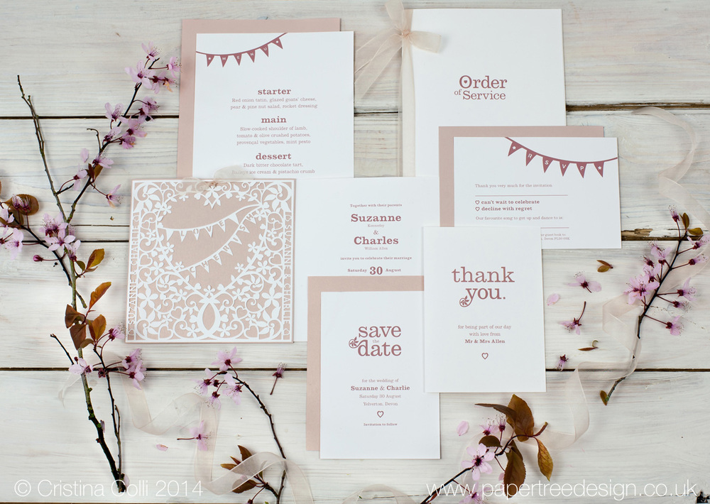 Filligree Heart Wedding Stationery